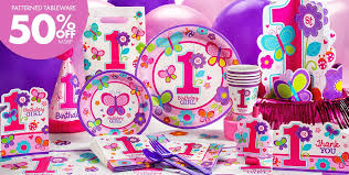 Birthday Decorations For Girls Butterfly First Birthday Party Decor From Party City It U0027s Perfect