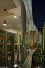 architecture small garden detail and glass walls also warm