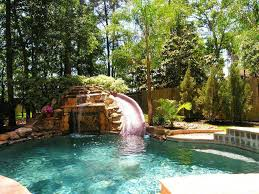 new backyard water slide outdoor furniture design and ideas