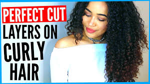 diy layered haircut on curly hair how to cut curly hair into