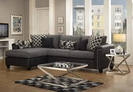 Dobson Sectional Sofa by Black Sectional Sofas Darie Modern Black Ottoman Leather For