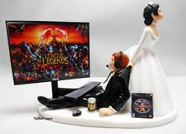 gamer cake topper wedding cake topper lol gamer and groom ebay