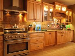 brick backsplash in the kitchen presented with soft colors