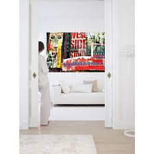 ideal decor 69 in x 0 25 in crystal flowers wall mural dm673 times square neon stories wall mural