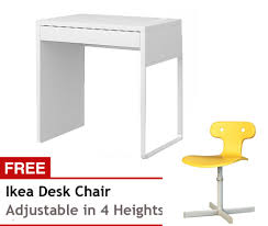 Free Desk Chair Ikea Micke Desk Short With Free Ikea Desk Chair Yellow Lazada Ph
