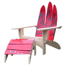 Adirondack Chair With Ottoman Ski Chair Water Ski Solid Wood Adirondack Chair With Ottoman