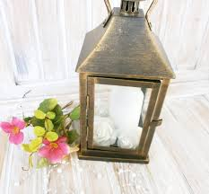 bronze distressed lantern rustic lantern gold wedding lantern