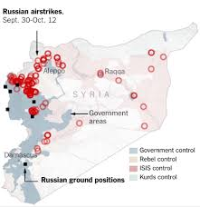 Isw Blog September 2015 by New York Times U0027 Four Color Conflict Map Of Syria Deliberately