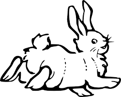 black and white clipart of rabbit clipground