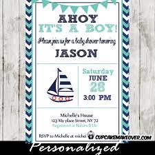 nautical baby shower invitations navy and turquoise nautical baby shower invitation personalized