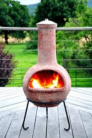 Red Clay Chiminea Tabasco Plain Clay Chiminea Terracotta Extra Large With Free