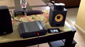 optimus 2channel amp is back and it u0027s snowing again youtube