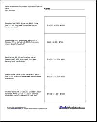 money problems worksheets worksheets