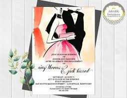 formal dance invitation engagement party invitation after