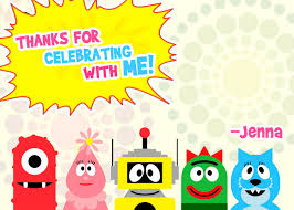 Yo Gabba Gabba Party Ideas by Yo Gabba Gabba Thank You Notes Yo Gabba Birthday Party Yo