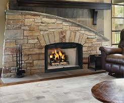 simple stone gas fireplace cut limestone accents andrea outloud