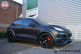 porsche cayenne black porsche cayenne with hre tr45 in satin black hre performance wheels