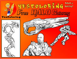free ice cold halo coloring