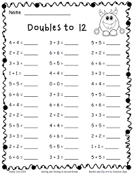 doubles to 12 pdf add and subtract pinterest math