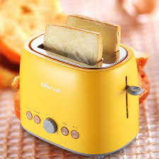 220v Toaster 2 Slice Wide Slot Stainless Steel Toaster Bread Kitchen Home Maker