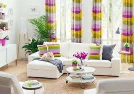 Yellow Curtains Ikea Furniture Fair Decorating Ideas Using Pink Yellow Stripes Loose