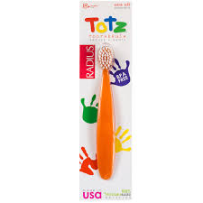 radius totz toothbrush 18 months extra soft orange sparkle