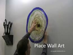 How To Hang Decorative Plates Hand Blown Wall Art Glass Plate Install From 1020 Glass Art Youtube