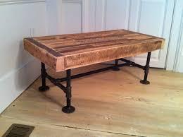 industrial wood u0026 steel coffee table reclaimed barnwood with