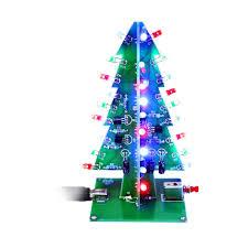 led christmas tree 3d christmas trees led diy kit sainsmart