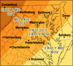 maryland foliage map 2015 fall foliage starting to show in virginia maryland mountains