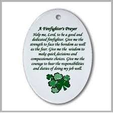 irish firefighter u0027s ornament irish firefighter u0027s prayer