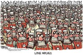 Lone Wolf Meme - cartoon shows the hard truth about lone wolf attacks