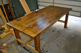 Building A Wooden Desk Top by Distressed Farm Table Project How To Build A Farm Table For 100