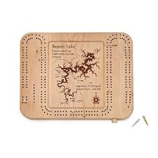 personalized cheese tray custom lake cribbage board vacation board uncommongoods