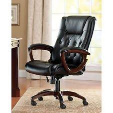 Computer Chair Desk Brown Leather Executive Chair Ebay