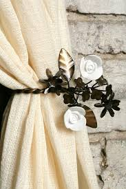 unique curtains how to make gold chain curtain tiebacks hgtv for