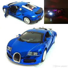toy bugatti 2018 blue door can open 1 36 pull back power toy car with flashing