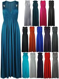 new ladies long stretch womens maxi dress size 8 16 ebay
