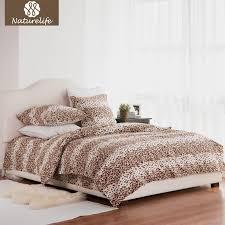 naturelife 100 cotton leopard duvet bedding set leopard duvet