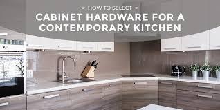Designer Kitchen Cabinet Hardware How To Select Cabinet Hardware For A Contemporary Kitchen