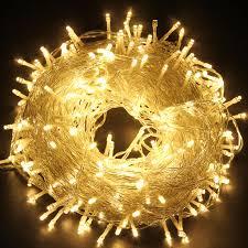 Outdoor Twinkle Lights by Excelvan Safe 24v 250 Leds 50m 164 Feet String Fairy Lights
