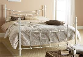 Iron Frame Beds White Metal Bed Frame Syrup Denver Decor Trends Today