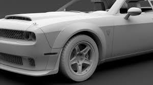 Dodge Challenger Models - dodge challenger srt demon prototype 2018 3d model max obj 3ds fbx