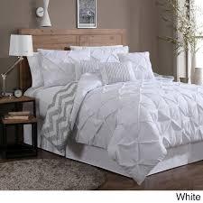 Machine Washable Comforters Avondale Manor Ella Pinch Pleat Reversible 7 Piece Comforter Set