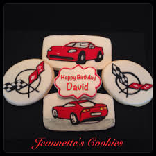 corvette cookies by jeannette u0027s cookies beautiful cookies