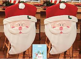 santa chair covers santa claus kitchen chair covers forros navideños para sillas