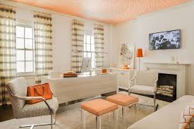 interior home color trend 25 vibrant home offices with bold orange brilliance