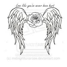 31 best angel outline tattoo heart images on pinterest angel