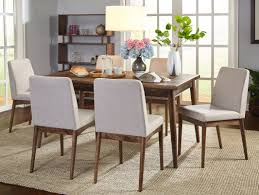 Large Round Solid Walnut Dining Table With Hidden Leaves 64 To 84 7 Piece Kitchen U0026 Dining Room Sets You U0027ll Love Wayfair