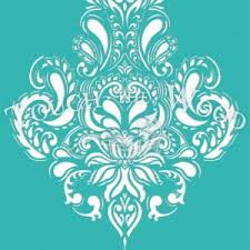 shabby chic stencil roses ornament pattern 045 touch the